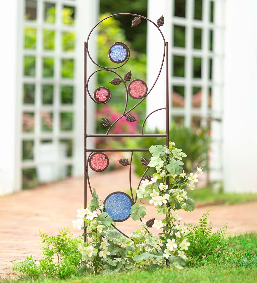 3-Leaf Frame Vine Plant Wrought Iron Wall Decoration Metal Art