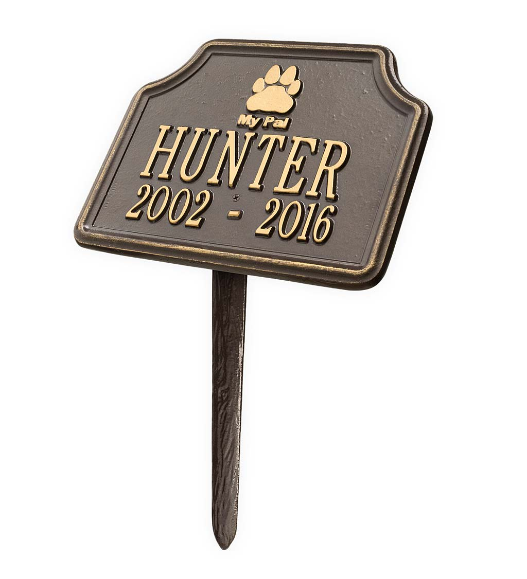 My Pal Customizable Metal Dog Memorial Marker Stake