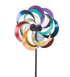 Solar Mesh Rainbow Wind Spinner