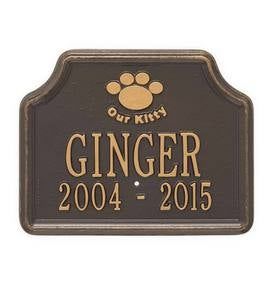 Our Kitty Customizable Metal Cat Memorial Marker Stake - Black