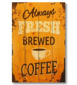 Handcrafted Fresh Brewed Coffee Wall Art by Wile E. Wood Art™