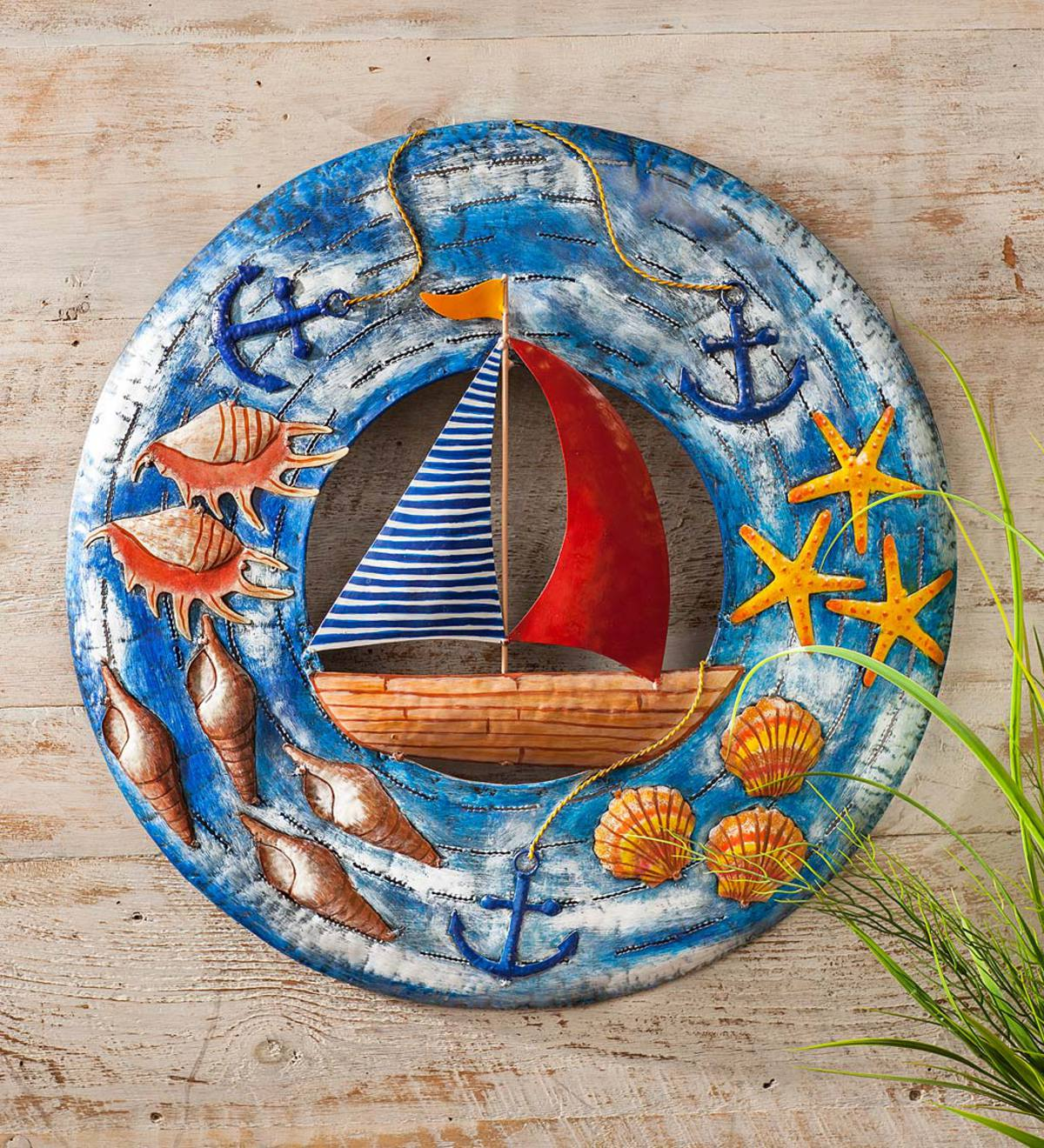 Sailboat Metal Wall Art