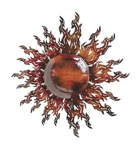 Reflective Metal Sun Wall Art