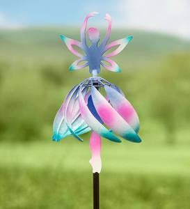 Metal Fairy Ballerina Wind Spinner