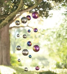 Hanging Gazing Ball Chain Garden Accent