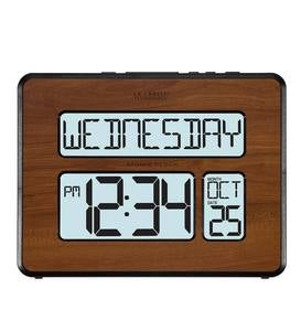 Wood-Finish Atomic Clock