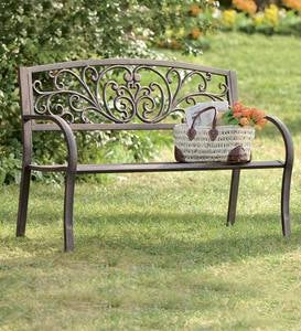 Blooming Garden Metal Bench