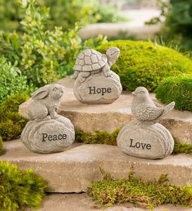 Inspirational Critters on Rocks, Set of 3