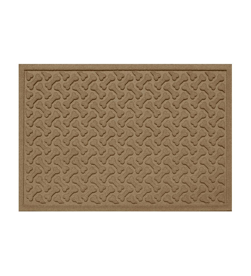 "Waterhogs Dog Bones Doormat, 18"" x 28"" - Camel"