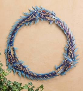 Metal Three-Dragon Uroboros Wall Art