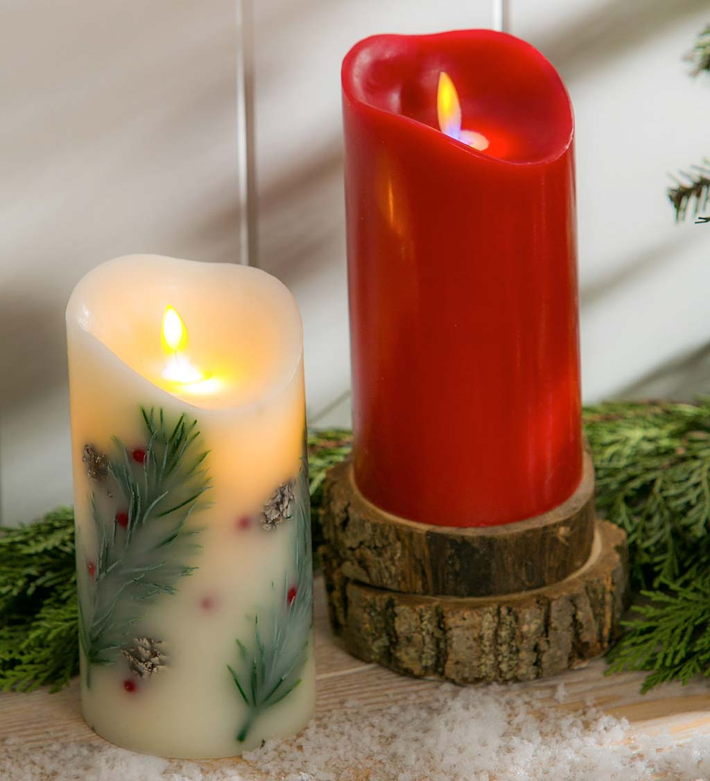 Scented LED Pillar Candle with Moving Wick - Apple Ginger ...