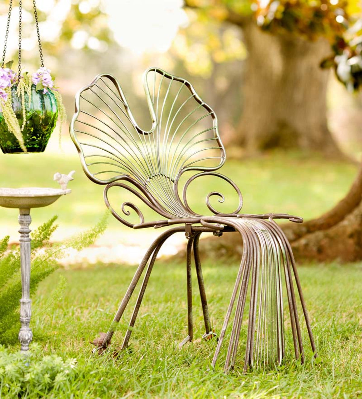 Ginkgo Leaf Outdoor Chair, in Metal | Wind and Weather