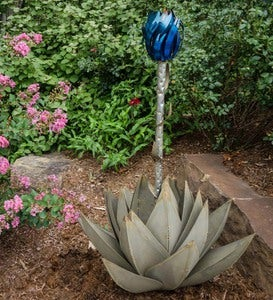 Blue Agave Plant Outdoor Torch