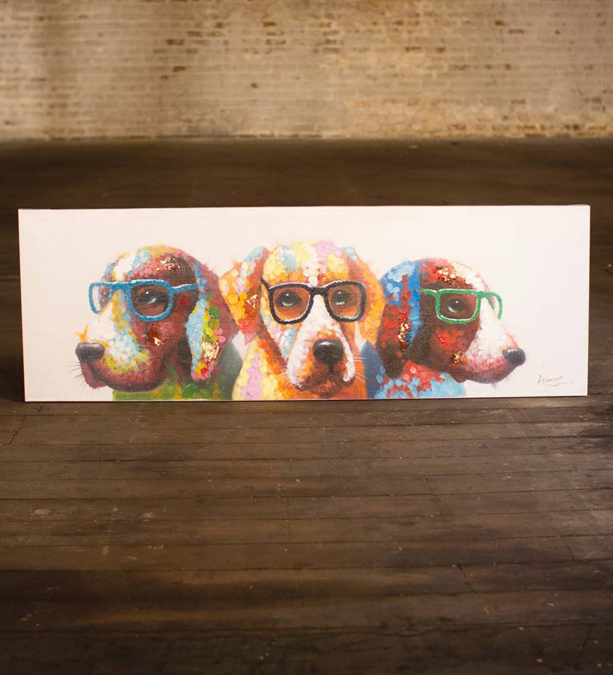 Dogs with Glasses Wall Art