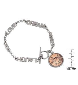 Inspirational Bracelet with Coin
