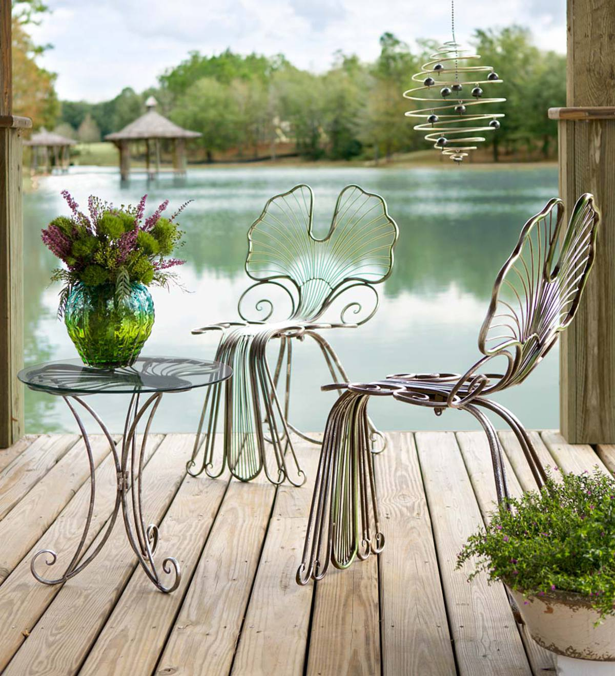 Ginkgo Leaf Outdoor Furniture In Metal Accessories