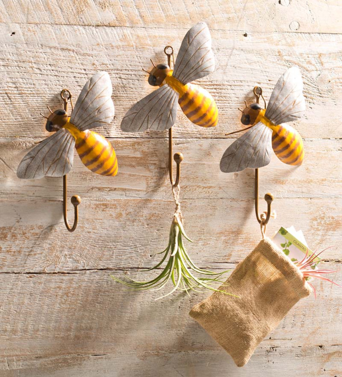 Handcrafted Bee Hooks, Set of 3