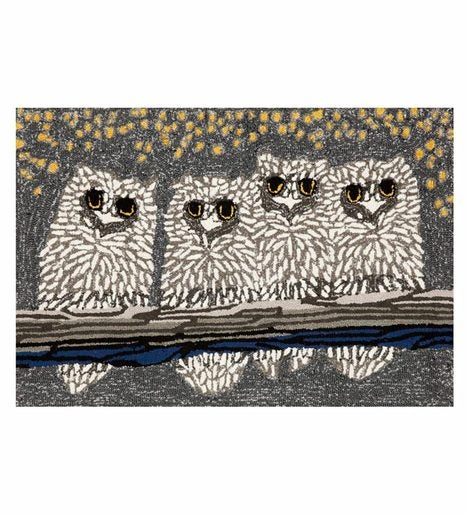 Extra Large Night Owls Indoor/Outdoor Accent Rug