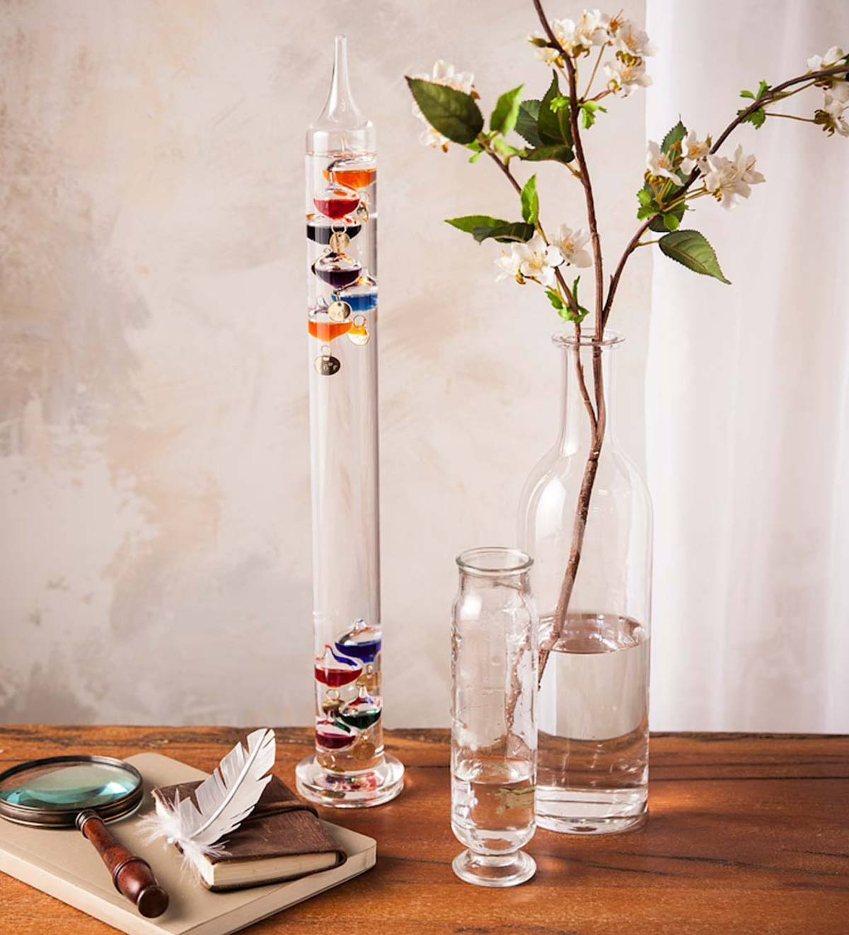 Colorful Glass Tabletop Galileo Thermometer