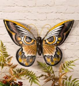 Owl Butterfly Metal Wall Art