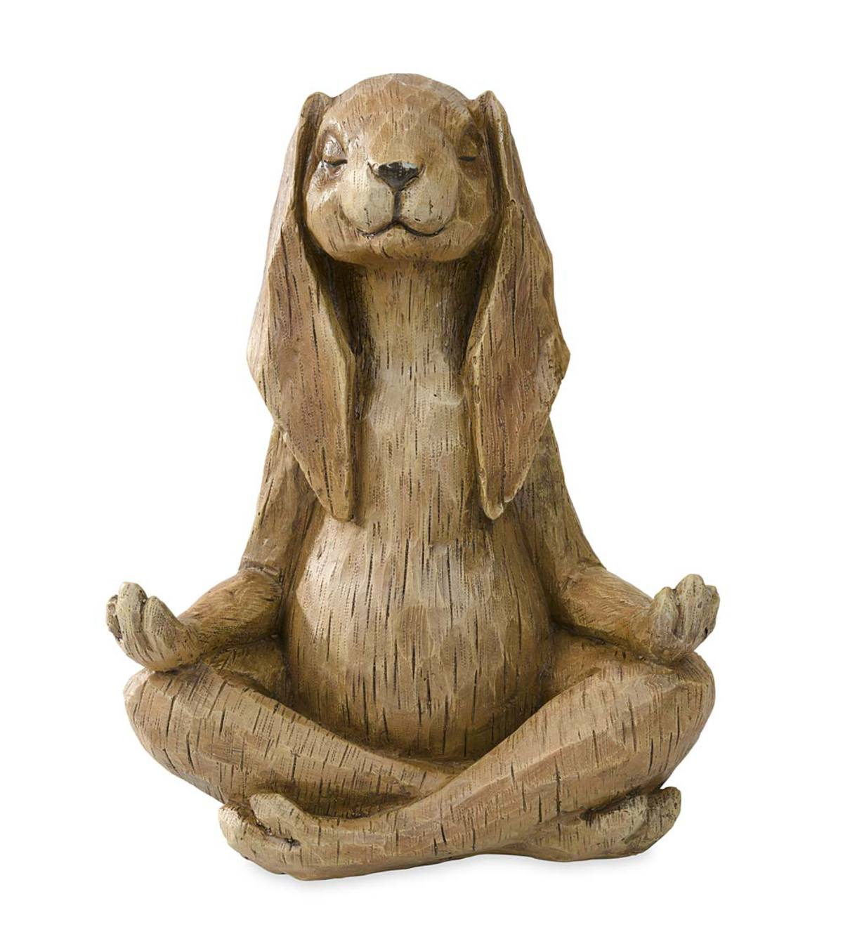 Yoga Pose Rabbit Resin Garden Statue