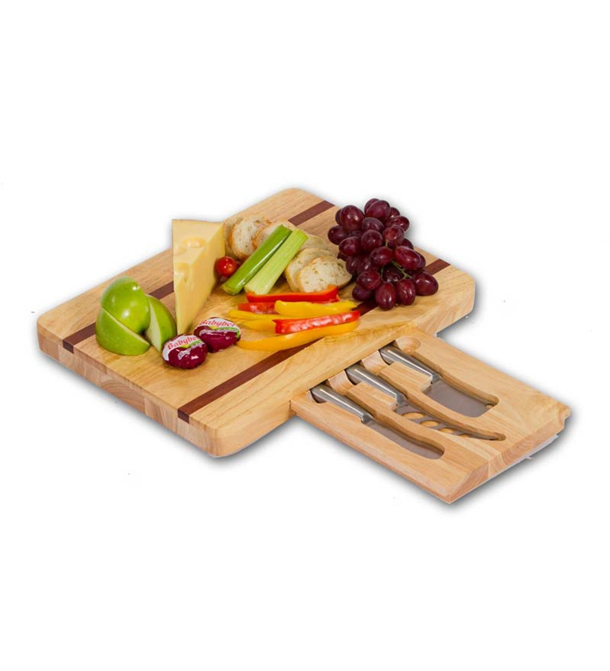 Large Wooden Cheese Board with Cheese Tools