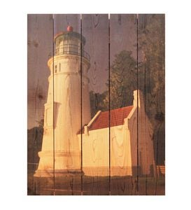 Handcrafted White Lighthouse Wall Art by Gizaun Art™