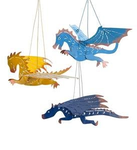 Hanging Metal Dragons, Set of 3