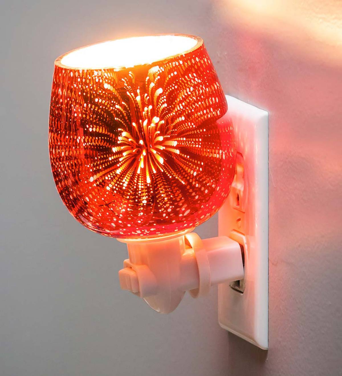 Stargazing Glass Nightlight - Red