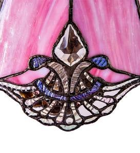 Pink Crystal Stained Glass Table Lamp