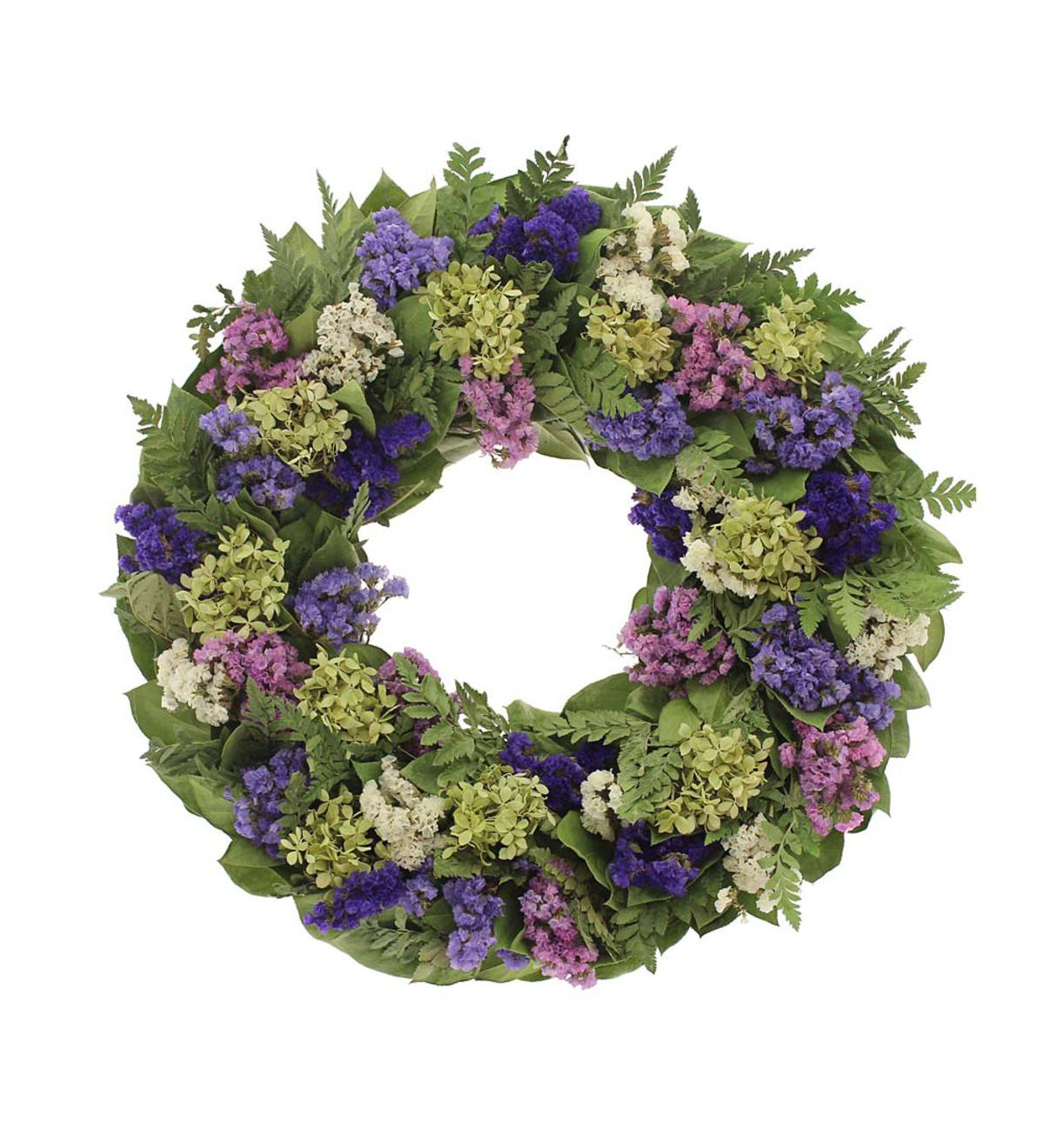 Spring Meadow Preserved Flower Wreath