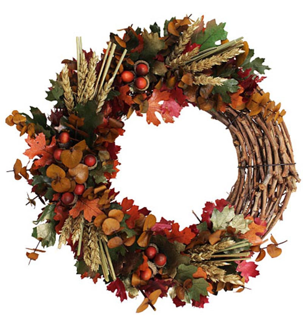 Autumn Maple Leaves Indoor Wreath