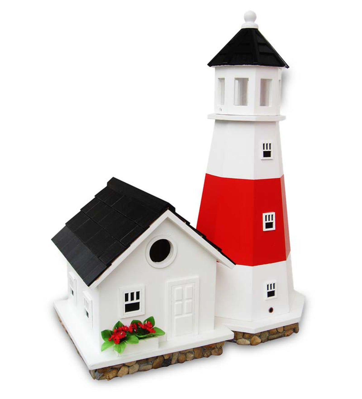Wood Montauk Point Lighthouse Birdhouse