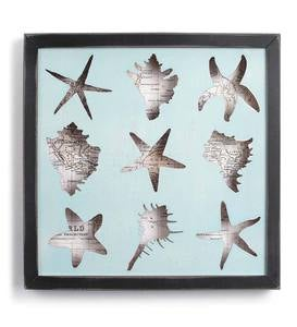 Framed Seashell Shadow Box Wall Art