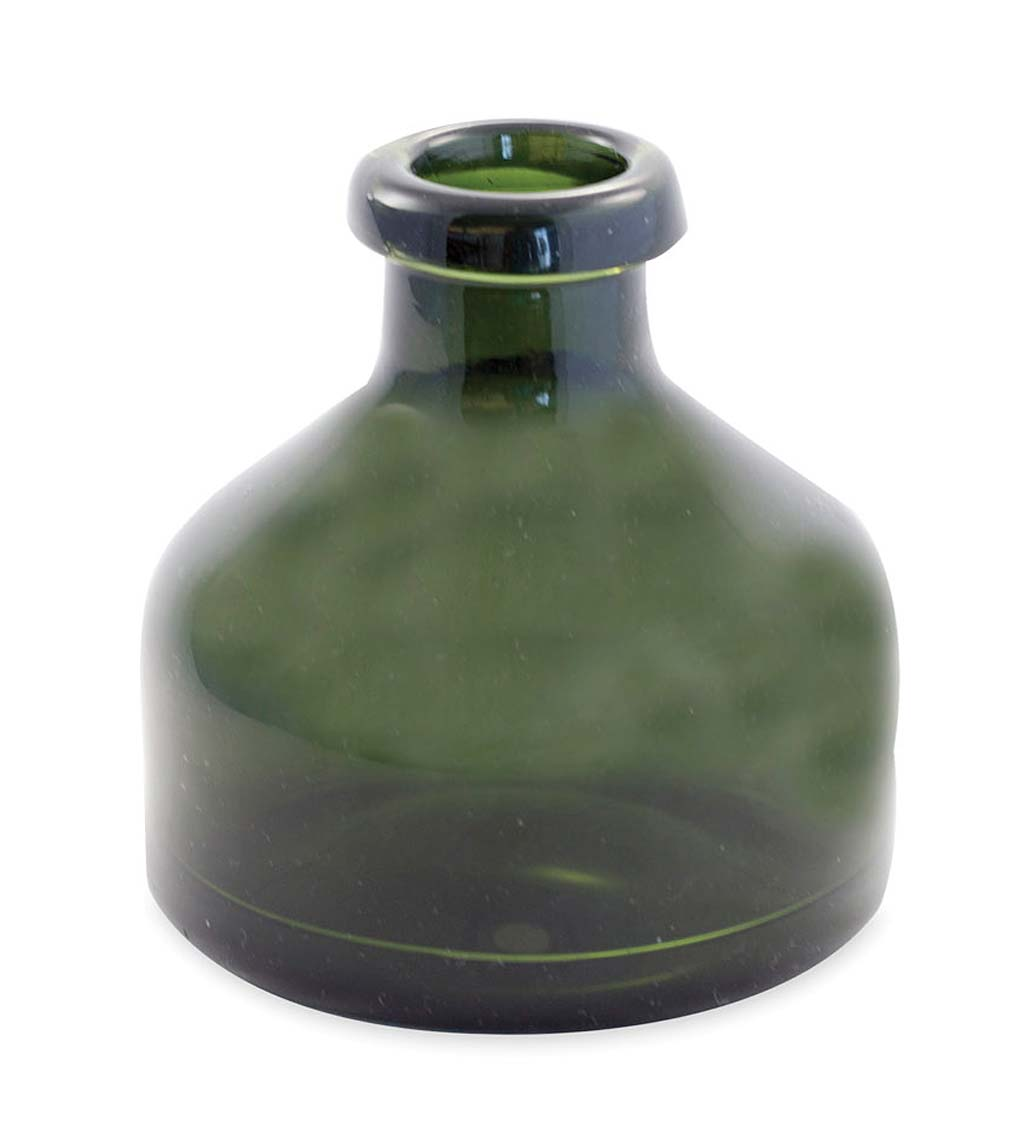 Small Recycled Green Glass Apothecary Vase