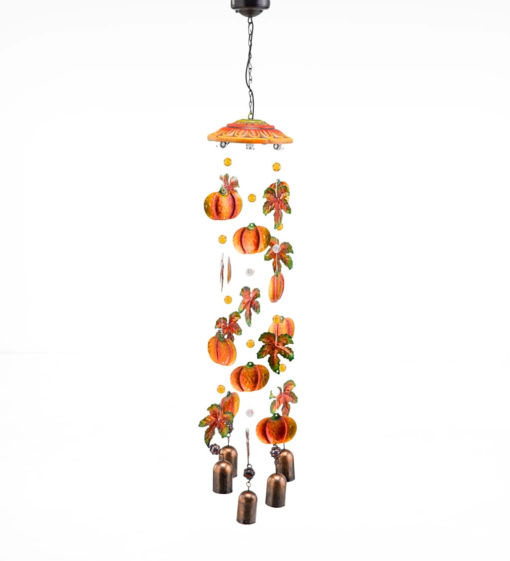 Solar Fall Mobile with Wind Chimes