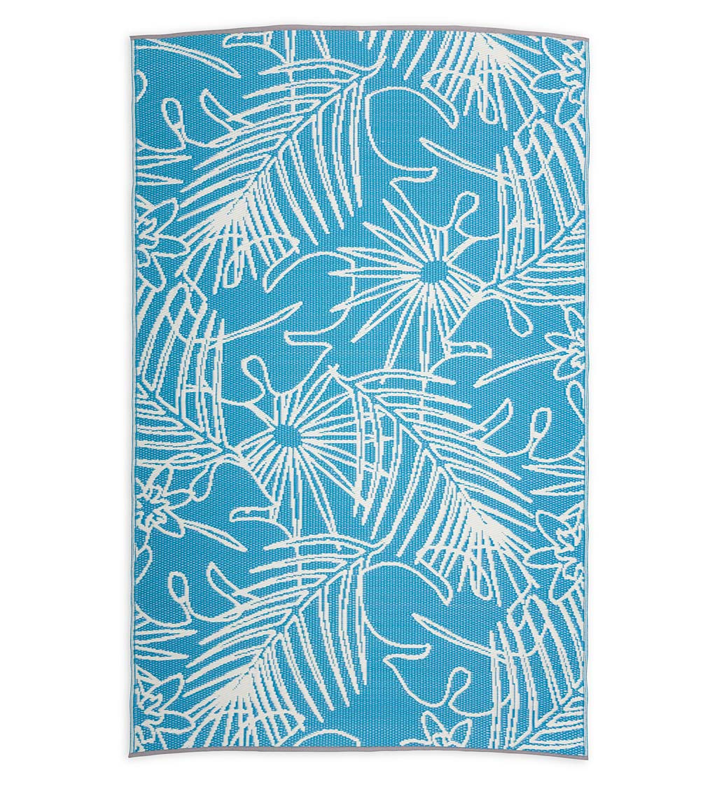 Recycled Plastic Indoor/Outdoor Rug, 4' x 6' - Tropical
