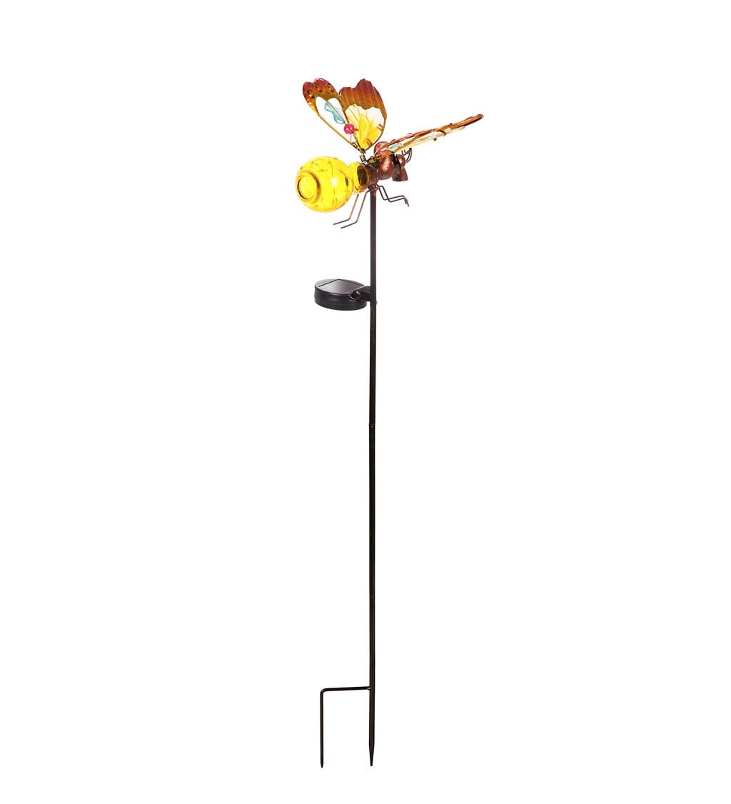 Firefly Solar-Powered Garden Stake - Yellow