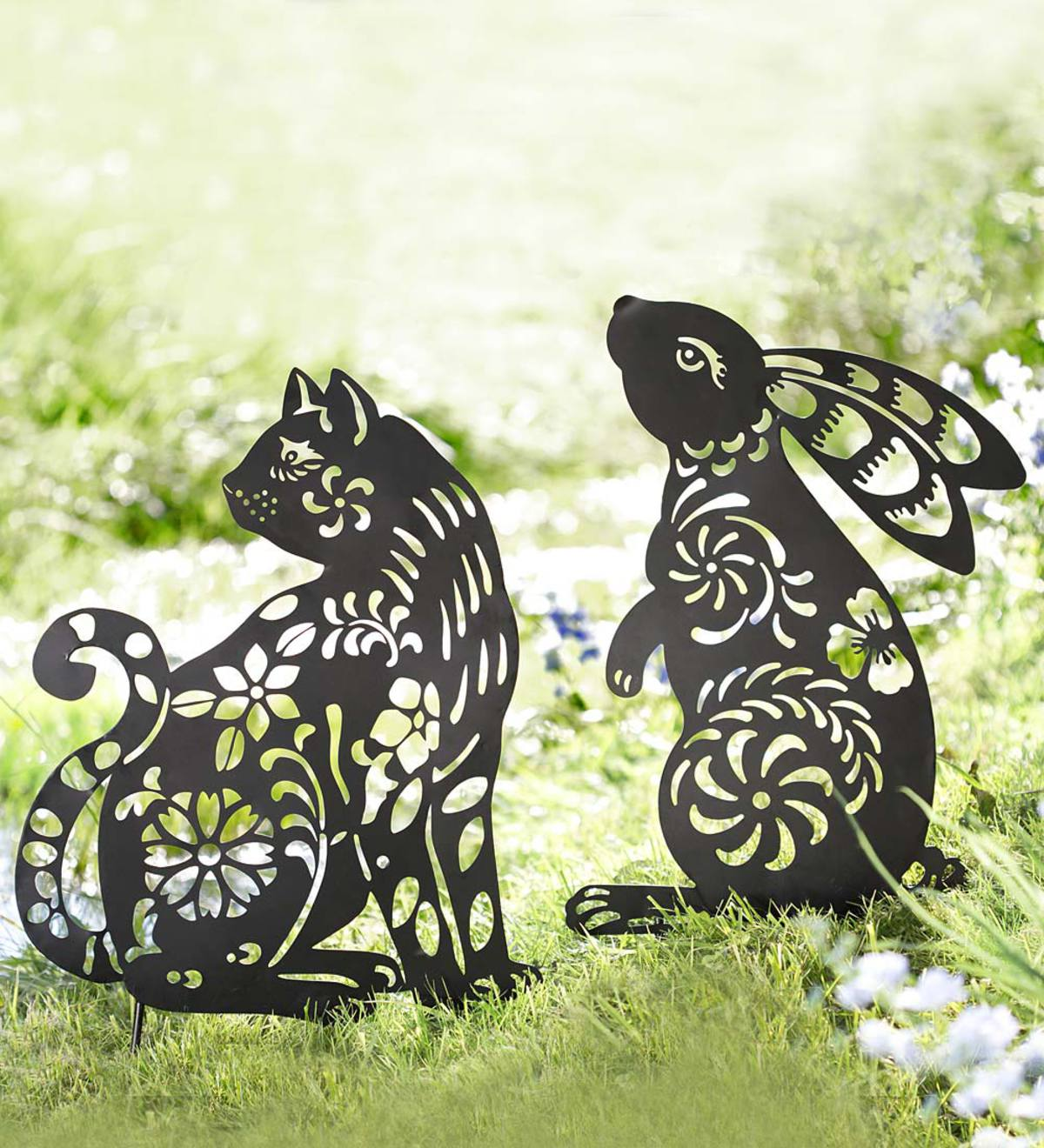 Animal Silhouette Garden Stake  - Free 2 Day Delivery