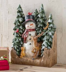 Snowman and Friends Tabletop Holiday Decoration