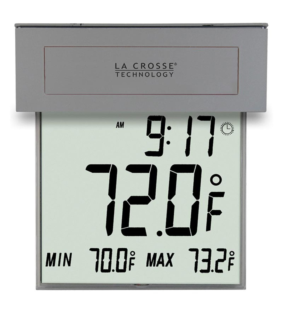 Large Window Thermometer with Solar Powered Backlight by La Crosse Technology