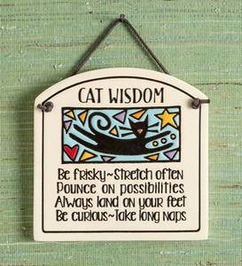 Cat Wisdom Wall Plaque