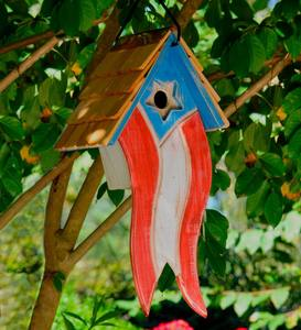 Patriotic Wooden Birdhouse
