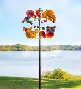 Two-Tier Multi-Colored Metal Mobile-Inspired Wind Spinner