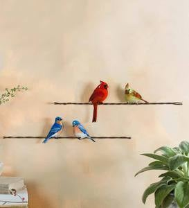 Bovano Enameled Birds on Wire