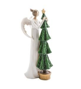 Angel with Christmas Tree Indoor/Outdoor Holiday Sculpture