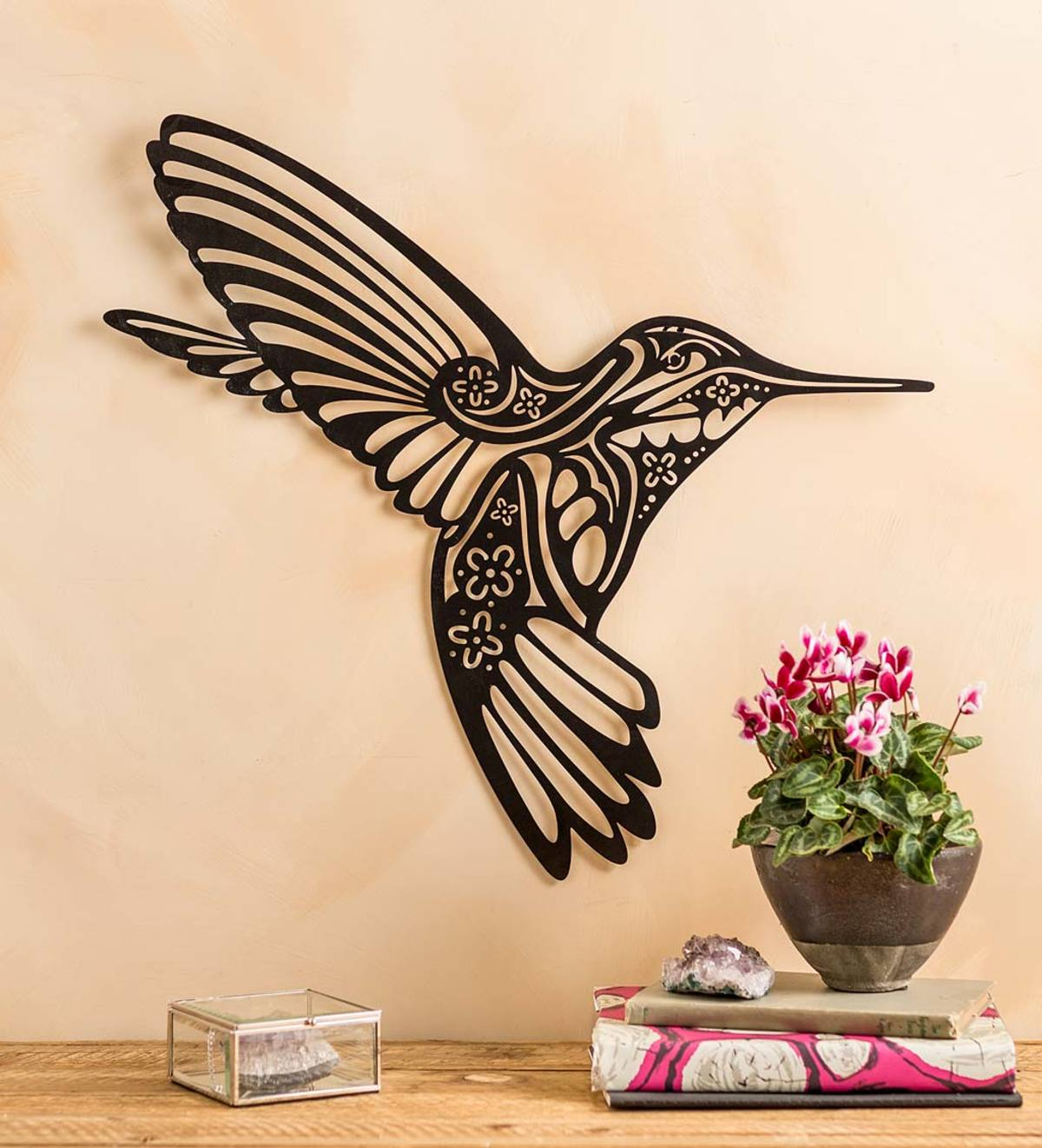 Hummingbird Silhouette Metal Wall Art