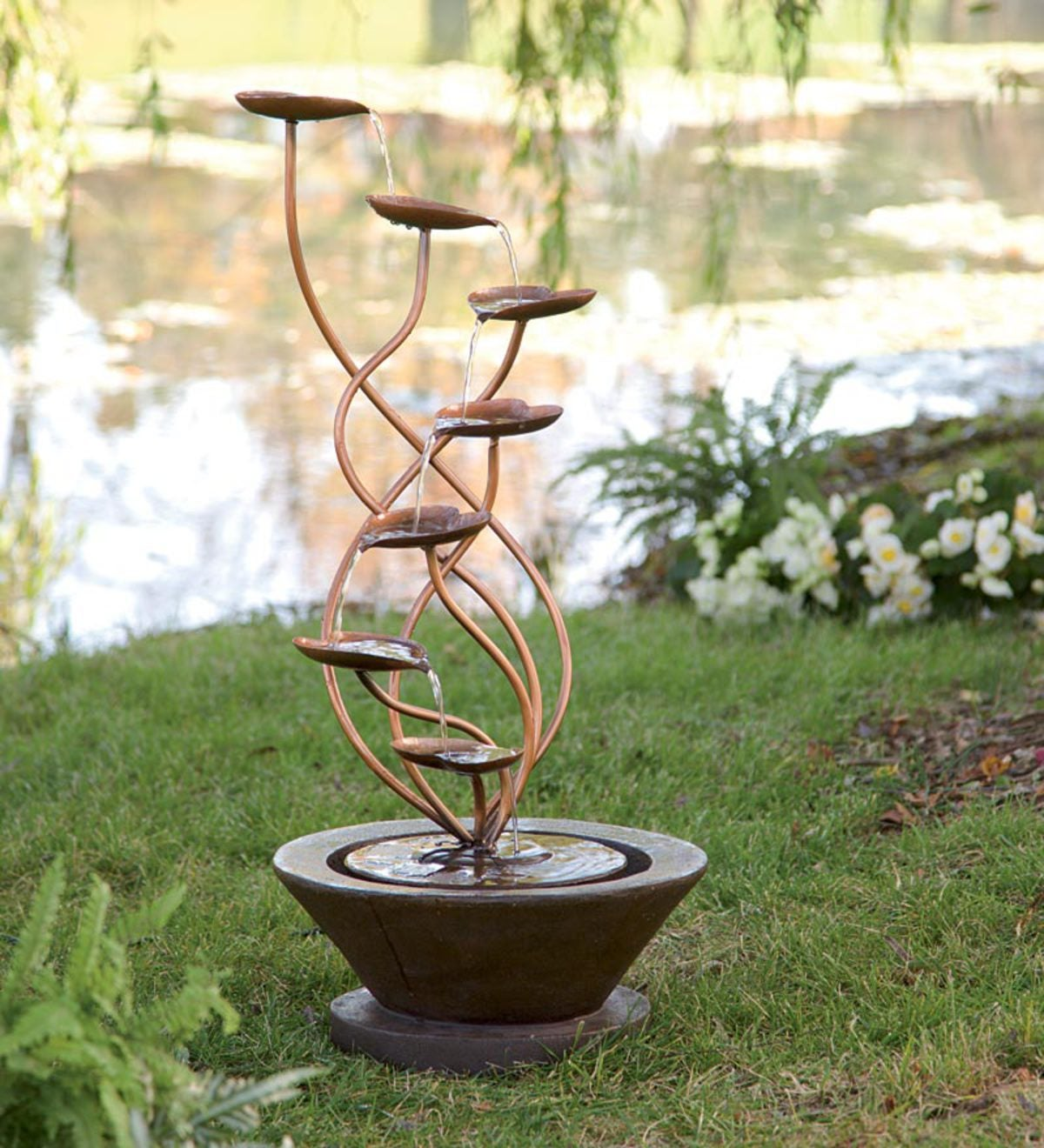 Large Bronze Leaf Fountain