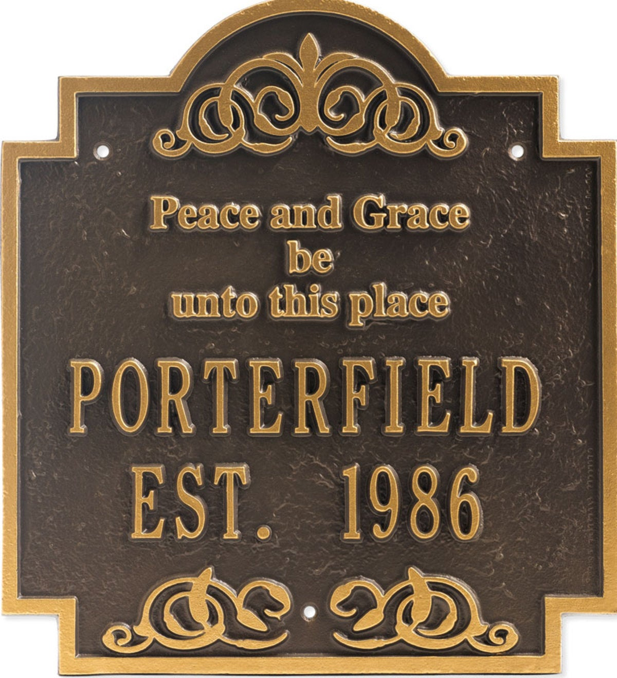 Peace & Grace Plaque - Bronze