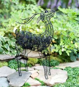 Wire Deer Sculpture